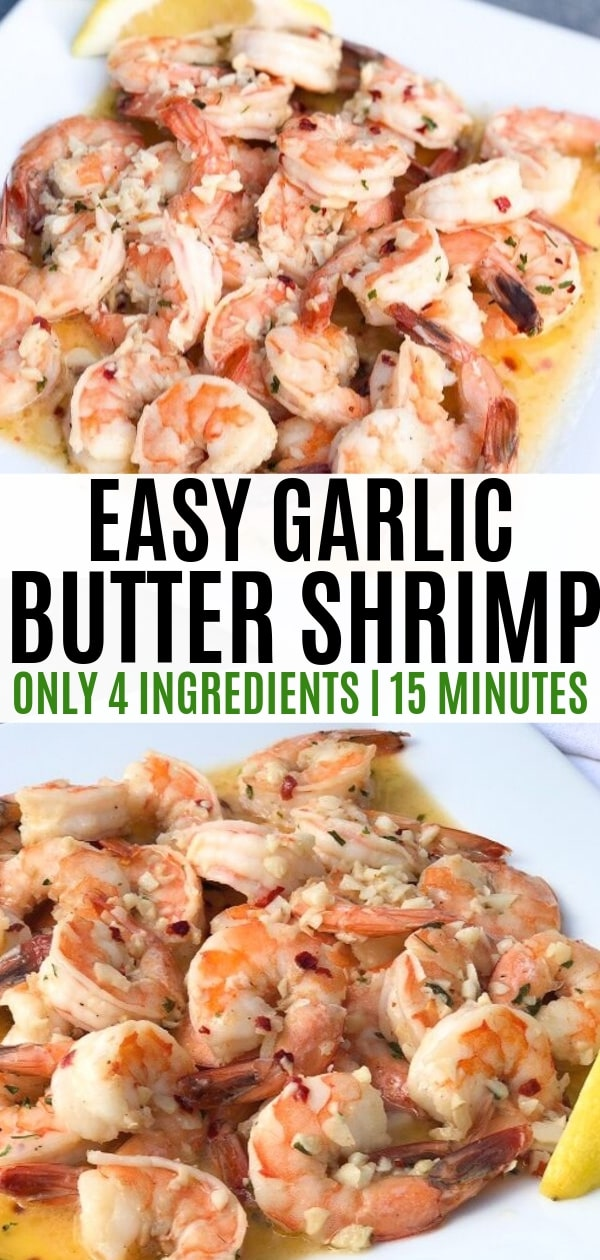 garlic butter shrimp that is keto friendly!