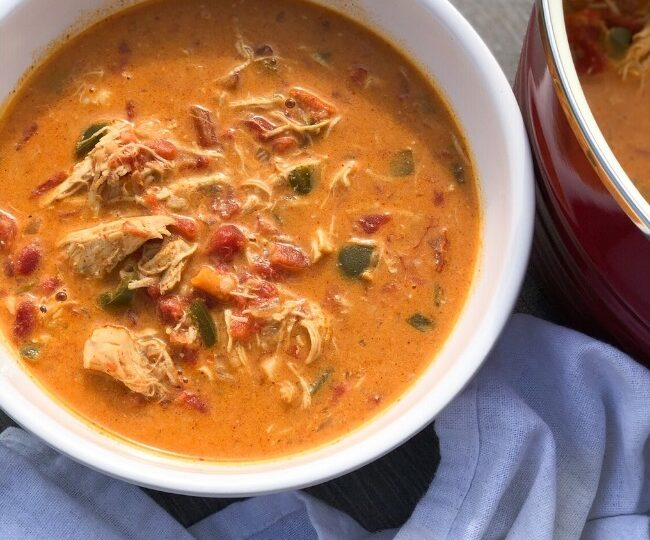 low carb chicken fajita soup