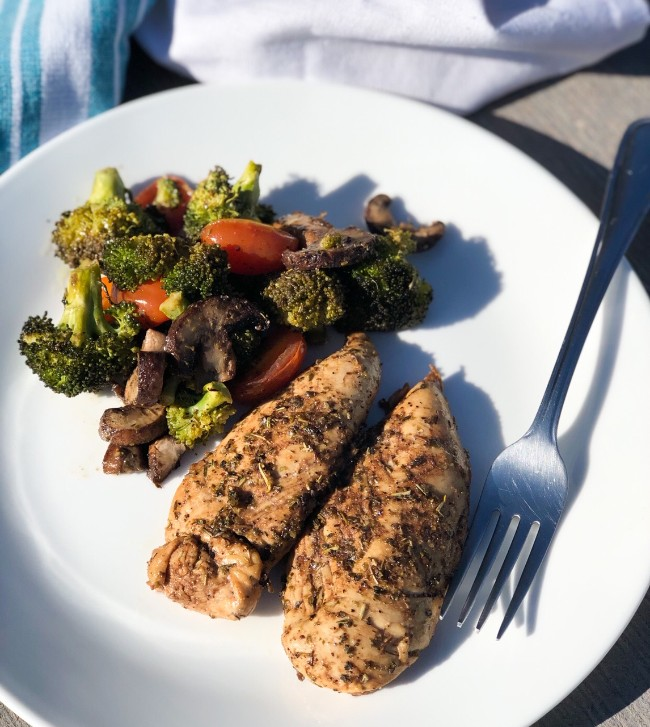 balsamic chicken recipe with veggies