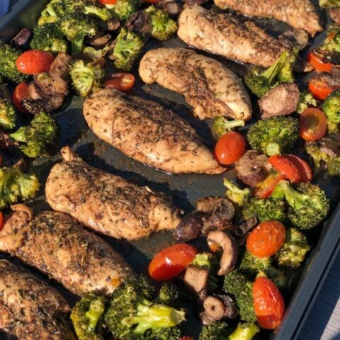 Sheet Pan Balsamic Chicken with Veggies