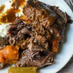 Nimja Foodi Pot Roast with carrots and celery