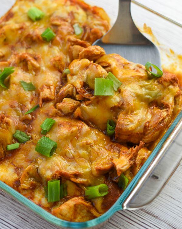 keto chicken enchilada casserole